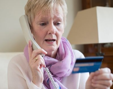 A Senior Woman Taking on the Phone